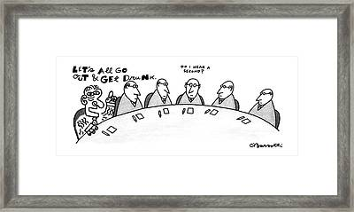 New Yorker August 3rd, 1987 Framed Print by Charles Barsotti