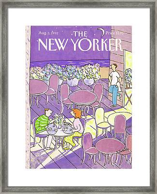 New Yorker August 3rd, 1992 Framed Print
