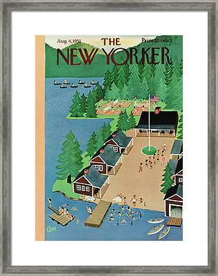 New Yorker August 4th, 1951 Framed Print by Charles E. Martin