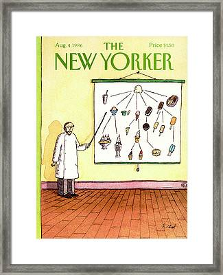 New Yorker August 4th, 1986 Framed Print by Roz Chast
