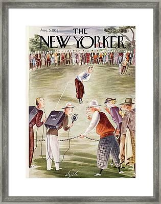 New Yorker August 5th, 1939 Framed Print by Constantin Alajalov