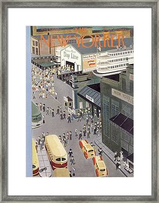 New Yorker August 5th, 1950 Framed Print by Charles E. Martin