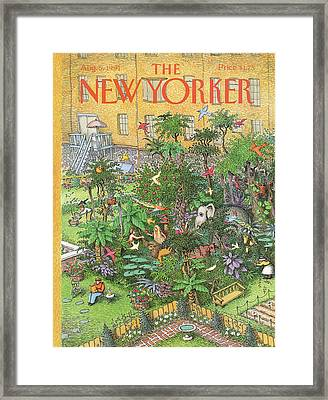 New Yorker August 5th, 1991 Framed Print by John O'Brien