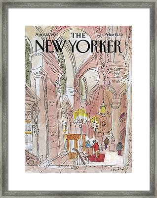 New Yorker August 6th, 1938 Framed Print by Charles E. Martin