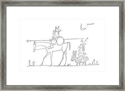 New Yorker August 6th, 1960 Framed Print by Saul Steinberg