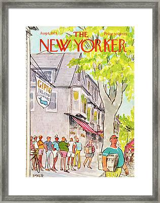 New Yorker August 6th, 1973 Framed Print by Charles Saxon