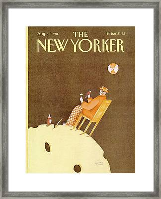 New Yorker August 6th, 1990 Framed Print by Victoria Roberts