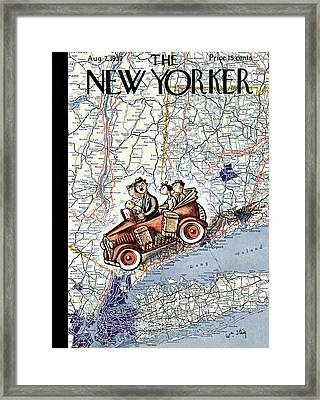New Yorker August 7th, 1937 Framed Print