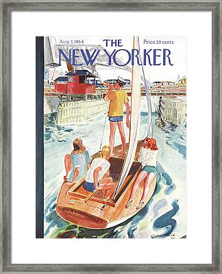 New Yorker August 7th, 1954 Framed Print by Garrett Price
