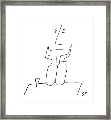 New Yorker August 7th, 1954 Framed Print by Saul Steinberg