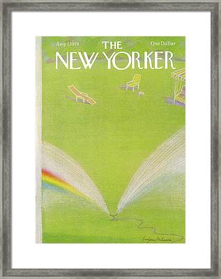 New Yorker August 7th, 1978 Framed Print by Eugene Mihaesco