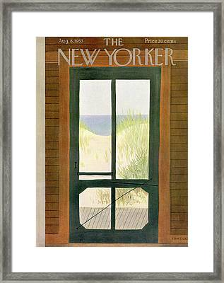 New Yorker August 8th, 1953 Framed Print by Edna Eicke