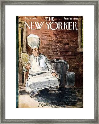 New Yorker August 8th, 1959 Framed Print by Perry Barlow