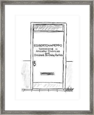 New Yorker August 8th, 1988 Framed Print by Warren Miller