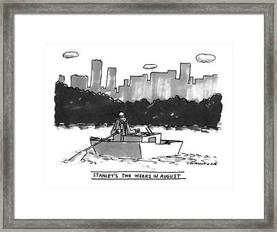 New Yorker August 8th, 1994 Framed Print