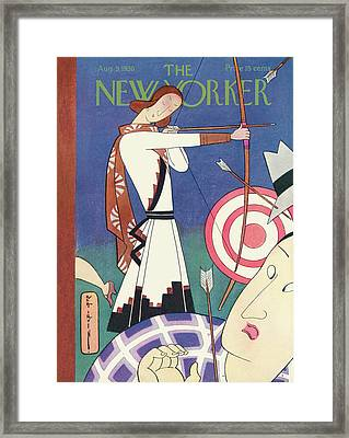 New Yorker August 9th, 1930 Framed Print by Rea Irvin