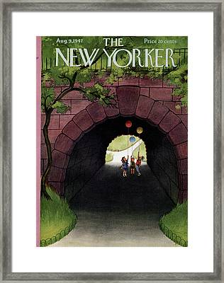 New Yorker August 9th, 1947 Framed Print by Edna Eicke