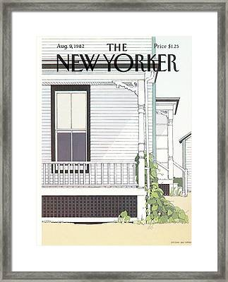 New Yorker August 9th, 1982 Framed Print by Gretchen Dow Simpson