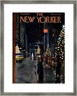 New Yorker December 10th, 1955 Framed Print by  Alain