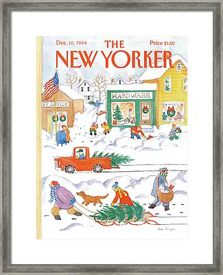 New Yorker December 10th, 1984 Framed Print by Anne Burgess