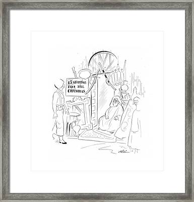 New Yorker December 11th, 1943 Framed Print