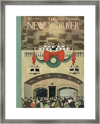 New Yorker December 11th, 1954 Framed Print