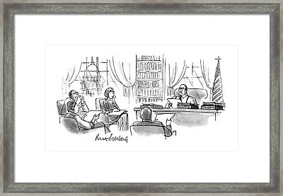 New Yorker December 11th, 1995 Framed Print