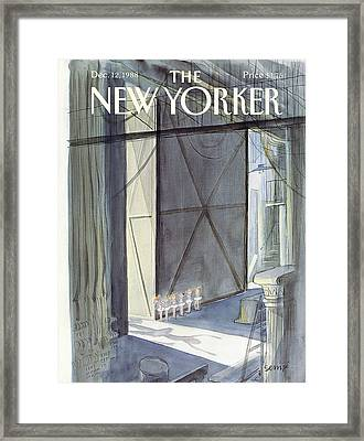 New Yorker December 12th, 1988 Framed Print