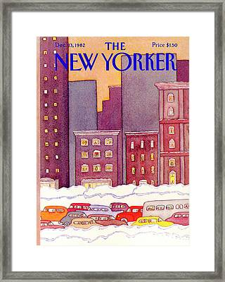 New Yorker December 13th, 1982 Framed Print by Lonni Sue Johnson