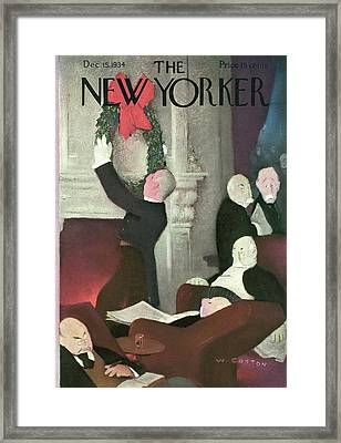 New Yorker December 15th, 1934 Framed Print by Will Cotton