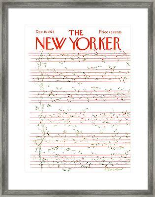 New Yorker December 15th, 1975 Framed Print