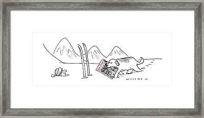 New Yorker December 15th, 1997 Framed Print by Bill Woodman