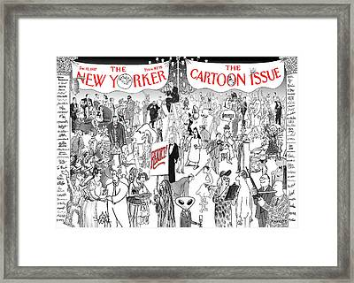 New Yorker December 15th, 1997 Framed Print by Robert Mankoff