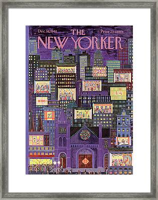 New Yorker December 16th, 1961 Framed Print by Ilonka Karasz