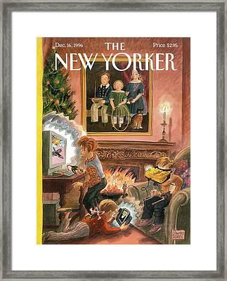 New Yorker December 16th, 1996 Framed Print by Edward Sorel