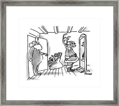 New Yorker December 17th, 1990 Framed Print by Frank Modell