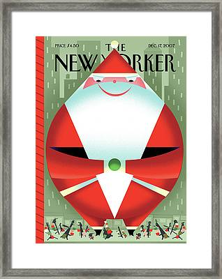 New Yorker December 17th, 2007 Framed Print