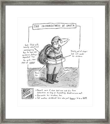 New Yorker December 19th, 1994 Framed Print by Roz Chast