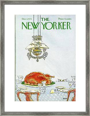 New Yorker December 1st, 1975 Framed Print by George Booth