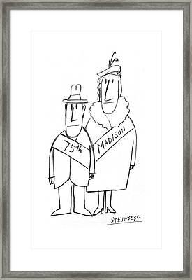 New Yorker December 1st, 1975 Framed Print by Saul Steinberg