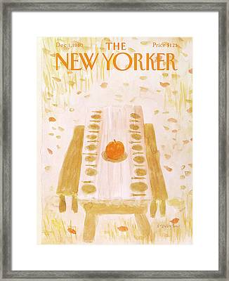New Yorker December 1st, 1980 Framed Print by James Stevenson