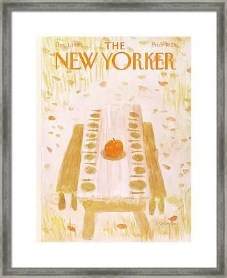 New Yorker December 1st, 1980 Framed Print by James Stevenson