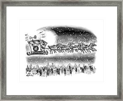 New Yorker December 21st, 1992 Framed Print by Ed Fisher