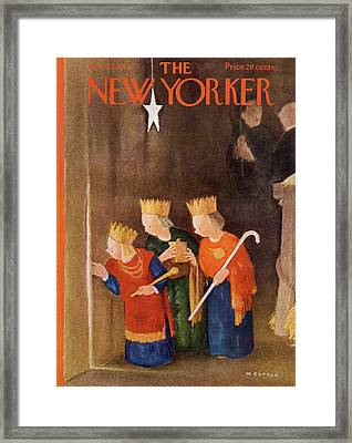 New Yorker December 22nd, 1951 Framed Print by Will Cotton