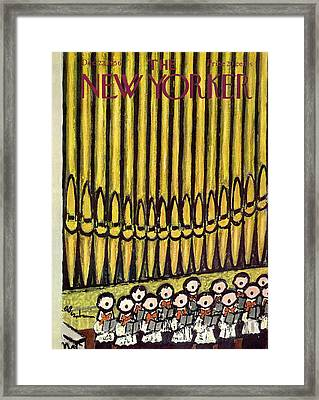 New Yorker December 22nd, 1956 Framed Print by Abe Birnbaum