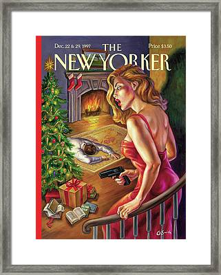 A Creature Was Stirring Framed Print