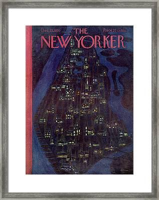 New Yorker December 23rd, 1950 Framed Print