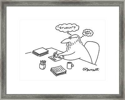 New Yorker December 23rd, 1996 Framed Print by Charles Barsotti