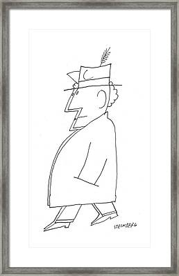 New Yorker December 24th, 1955 Framed Print by Saul Steinberg