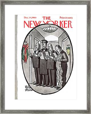 New Yorker December 24th, 1960 Framed Print by Peter Arno
